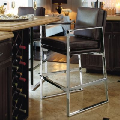 Seville Modern Bar Stools From Frontgate Just Because It S A Bar Stool Doesn T Mean It Has To Be Boring Hard And Uncomfortable Home Decor Kitchen Bar Stools Home Decor