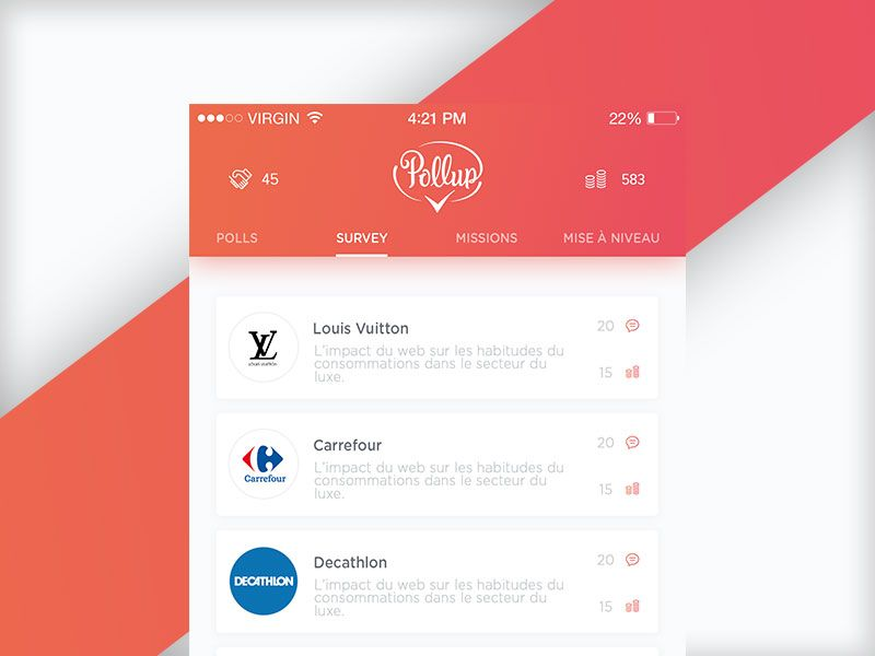Pollup App home by Florian Grs