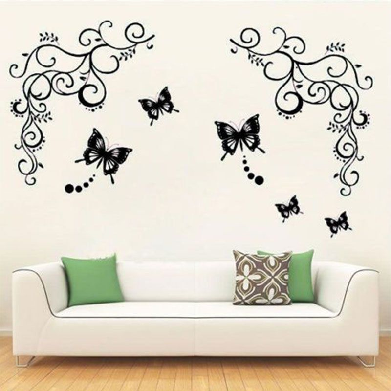 4//8//12x Divider Partition Hanging Screen Wall Decals DIY Room Curtain Decor 40cm