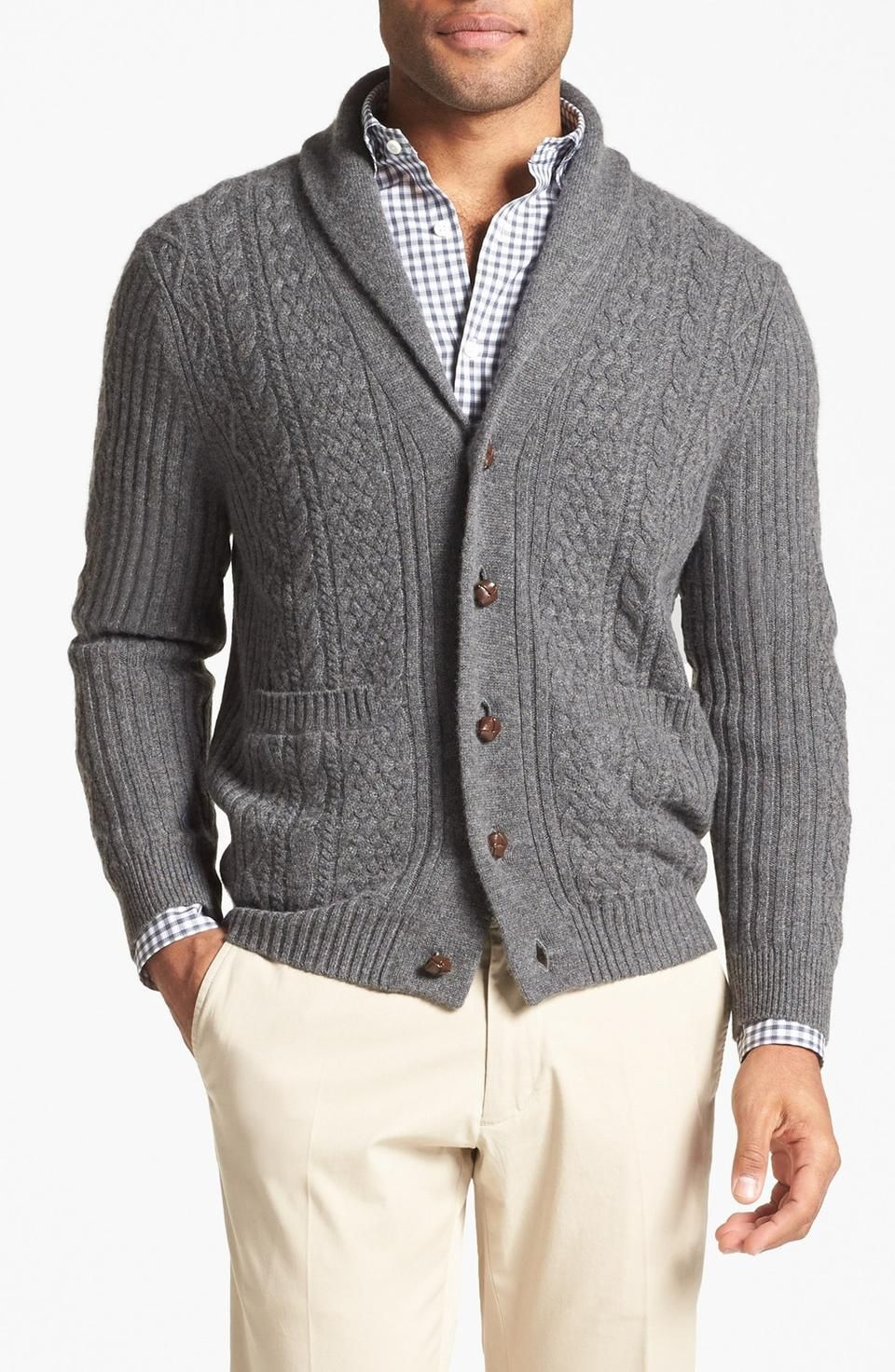 Shawl Cardigan | Men's and Women's Shawl Collar Cardigans ...