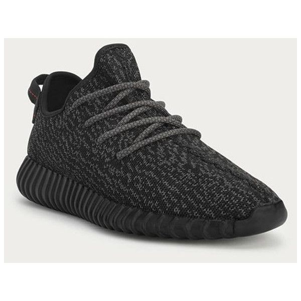 Here's Where You Can Get Kanye West's Black Yeezy Boost 350 ❤ liked on Polyvore featuring shoes