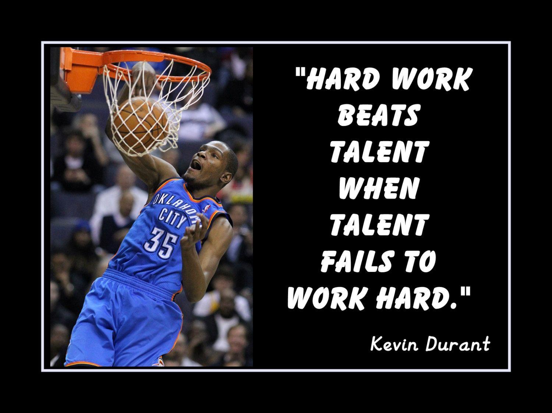 Basketball motivation kevin durant okc thunder poster wall