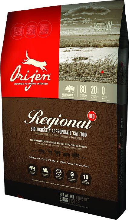 Orijen Regional Red Grain Free Dry Cat Food Chewy Com Cat Food