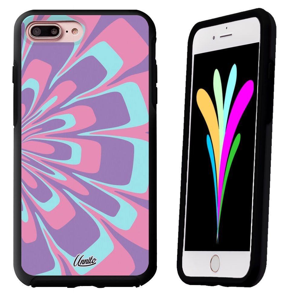 iPhone 7 Case Black Symmetry Marble Flower by Unnito