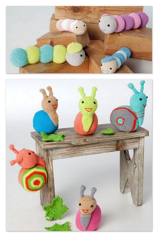 Les chenilles et les escargots envahissent...... le coffre à jouets!