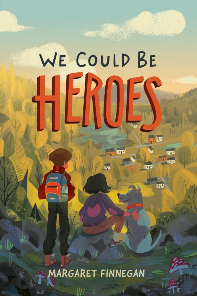 Middle Grade Cover Reveal  We Could Be Heroes by Margaret Finnegan is part of Book cover illustration, Book cover design, Book illustration, Children's book illustration, Book cover art, Book design - Find the cover reveal for Margaret Finnegan's debut middle grade novel We Could Be Heroes plus an exclusive giveaway opportunity for a signed manuscript