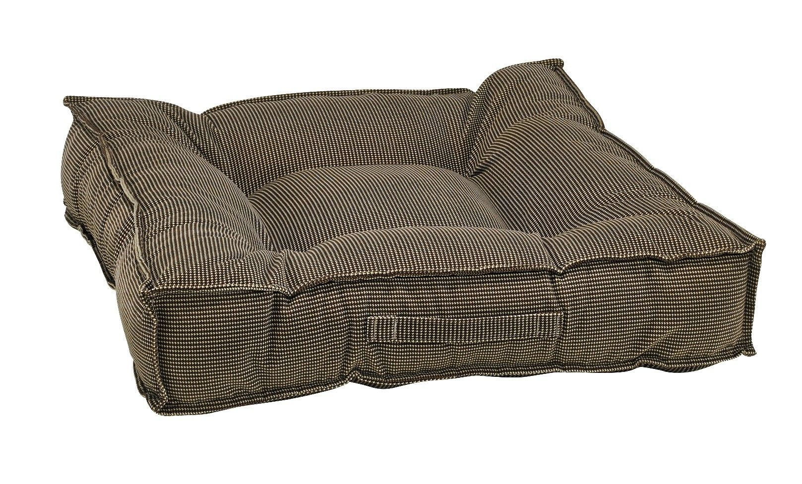 Piazza Dog Bed - Houndstooth (Microvelvet)