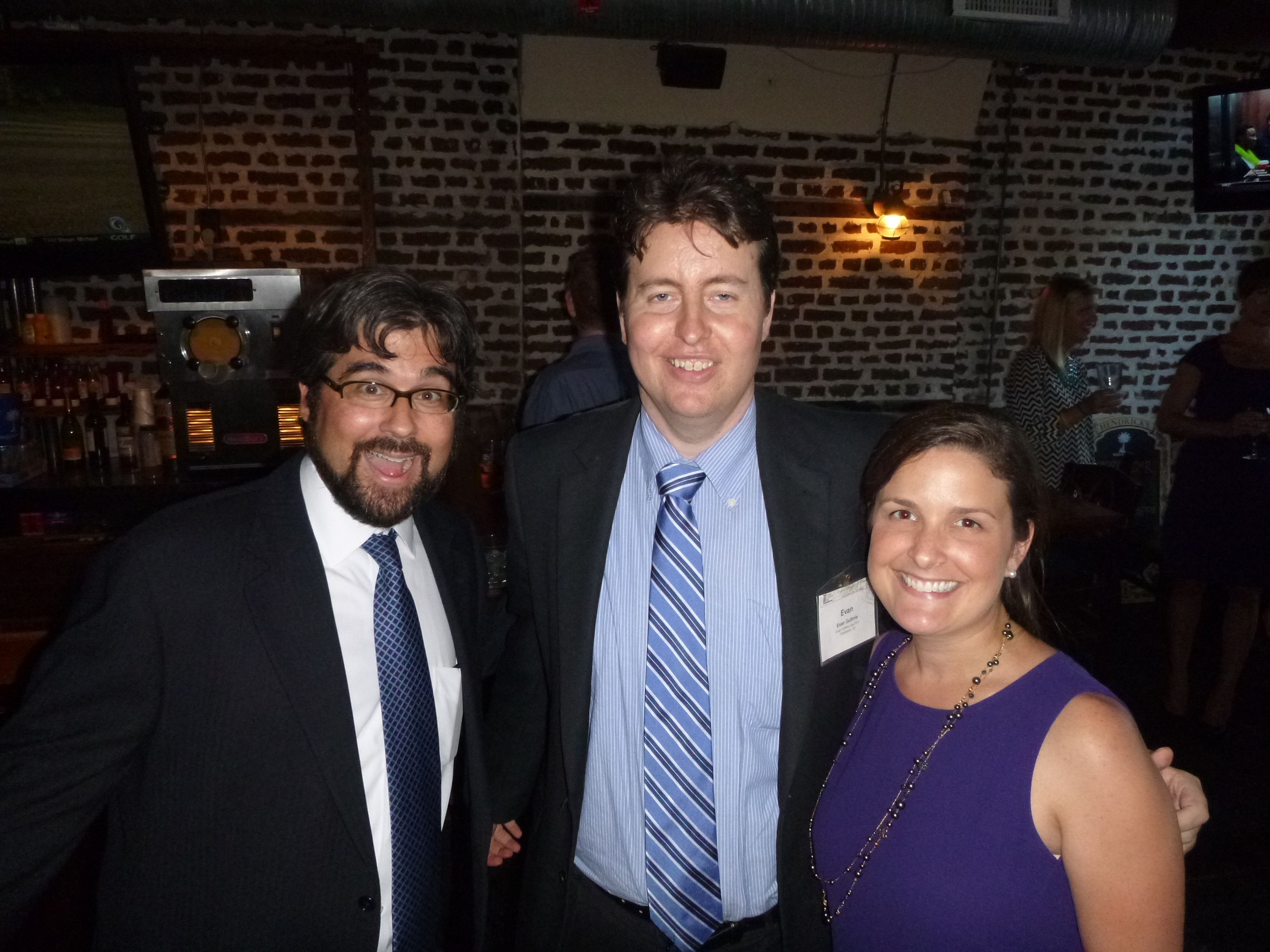 Attorney Evan Guthrie With Tim Whisler And Luci Nelson Of Ogletree Deakins At The South Carolina Bar Young Lawyers Division Happy Hour Wi New Law Guthrie Evan