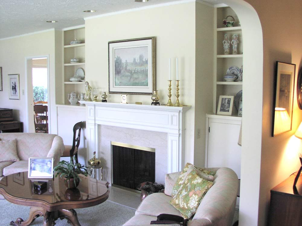 built in shelves on either side of fireplace - Google Search