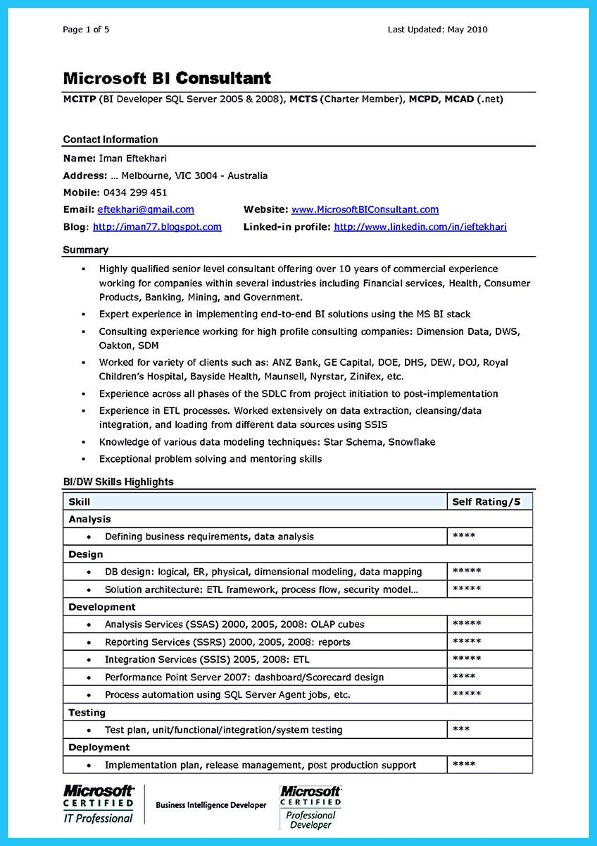 Cool Incredible Formula To Make Interesting Business Intelligence Resume Check More At Http Snefci Org Incredible Formula Make Interesting Business Intellige