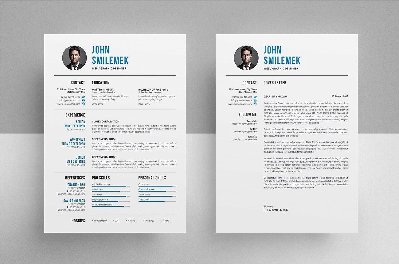 Resume Cv Resume Cv Cover Letter For Resume Cv Template
