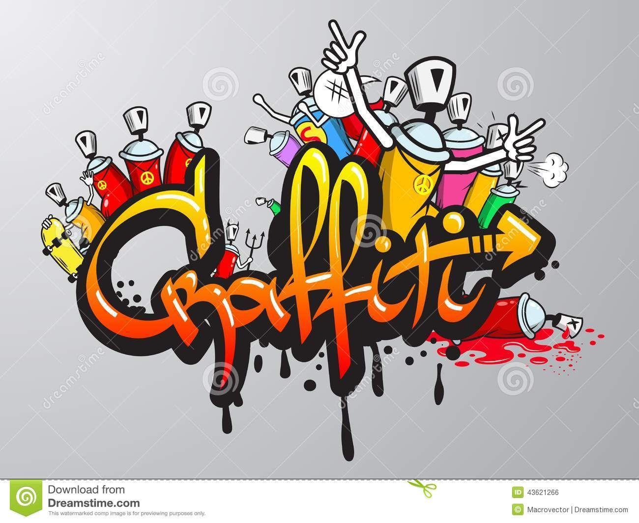 the word graffiti in graffiti