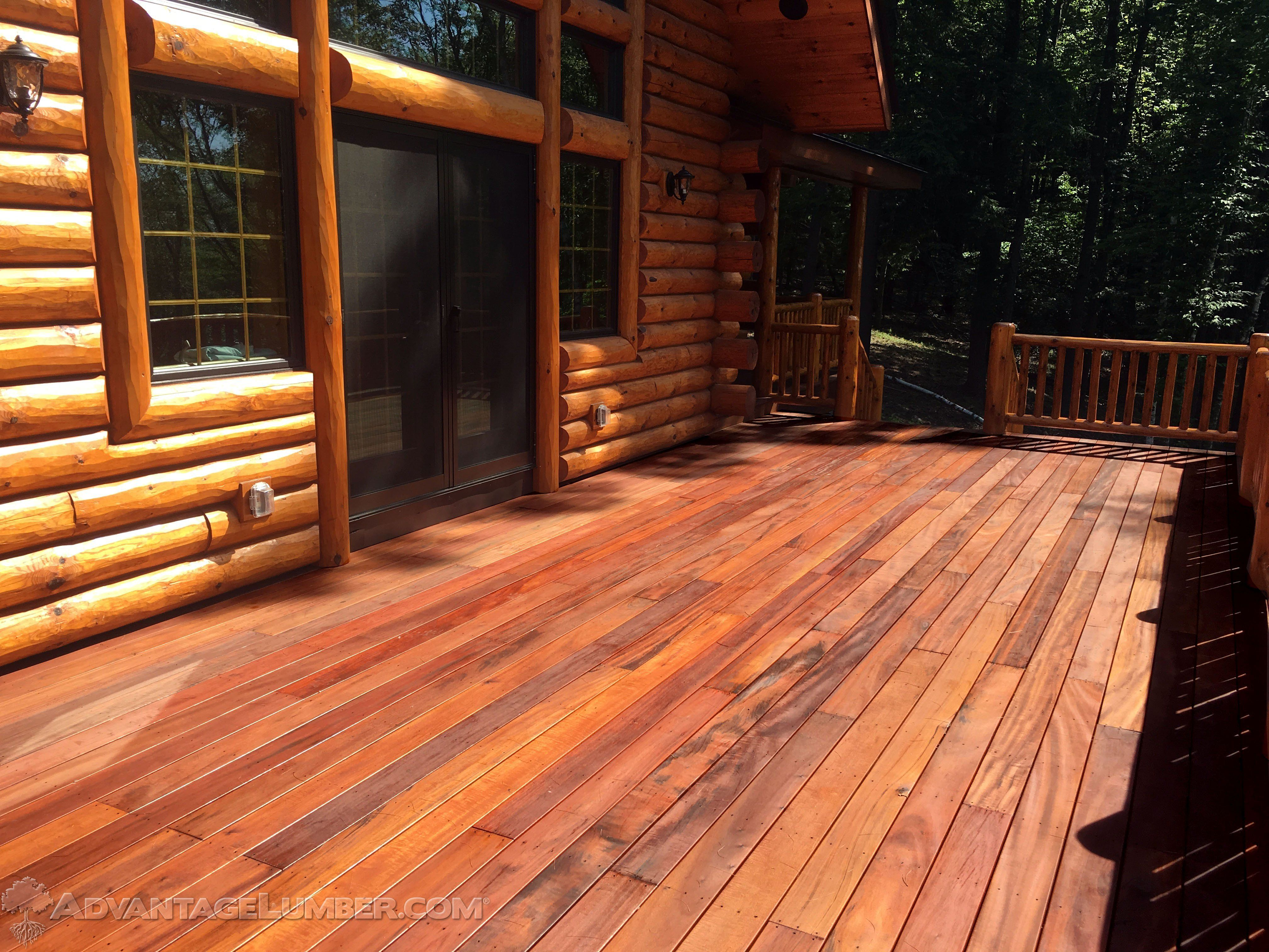 What S The Best Decking Material For A Logcabin This Article Compares The Prosandcons Of Pressuretreated Cedar Composite Building A Deck Diy Deck Deck