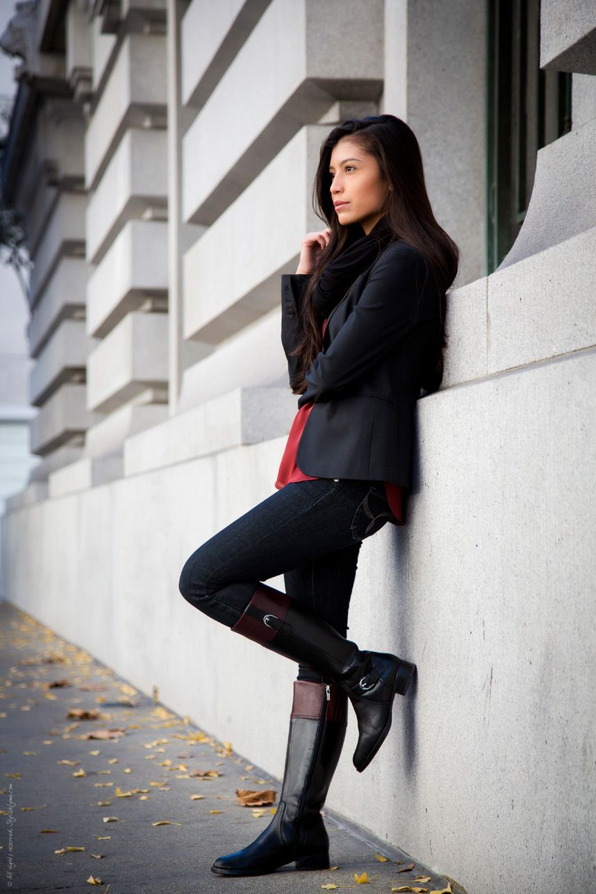 5d75686acb26 Fall Outfit Series - Casual Riding Boots Outfit
