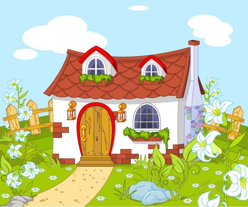 Casita De Cuento Vector Casas De Cuento Casa De Cuento De Hadas Dibujo De Casa