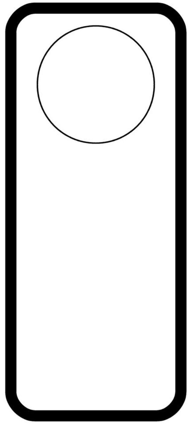 Colgantes Para Puertas En Foami Imagui Door Hanger Template Door Hangers Custom Door Hangers
