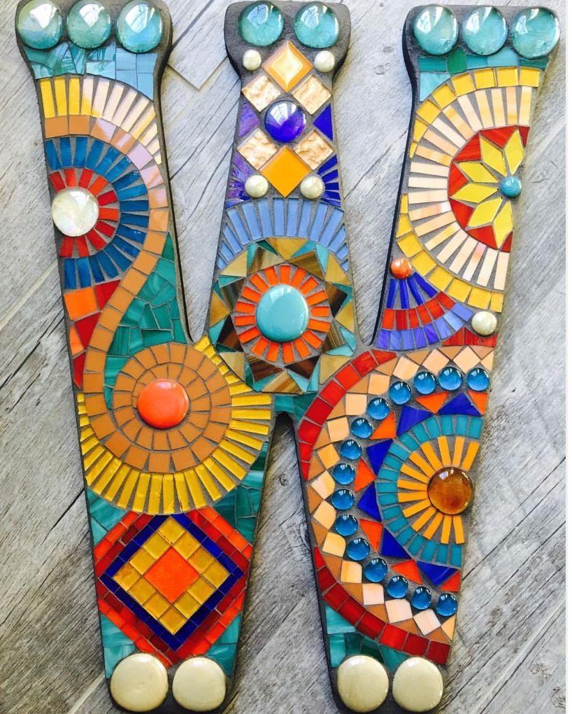 Pin de Nolene Jansen en Mosaics | Pinterest | Mosaicos, Letras y Marcos