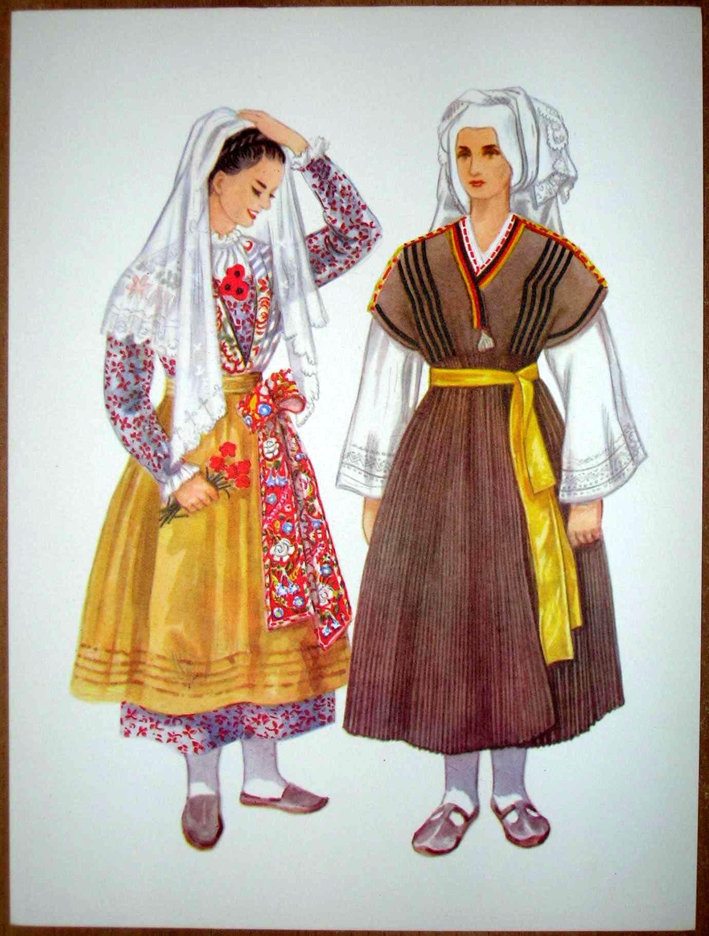 Slovenia Folk Costume - Solkan