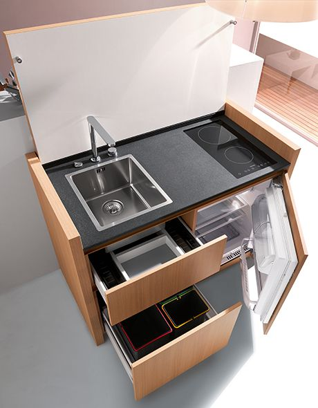Compact Kitchen Designs For Small Spaces Everything You Need In One Single Unit Space Saving Kitchen Contemporary Kitchen Design Tiny Kitchen