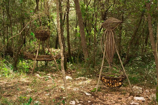A Year in a French Forest: Sculpture 17.Forest Sculptor Spencer Byles.Photog...