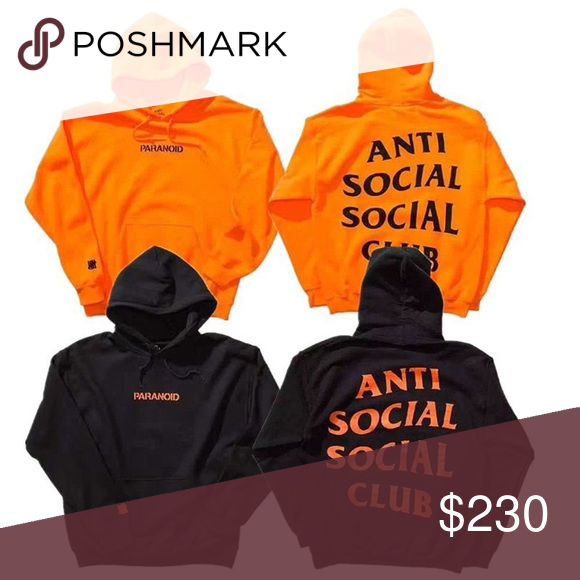 35a7aa72d485 ASSC UNDFTED COLLABORATION Complexcon Black orange orange black hoodie Anti  Social Social Club Jackets   Coats Bomber   Varsity
