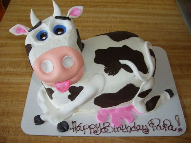 Cow Cake Unique Kids Birthday Cakes Volume 3 Pinterest Cow