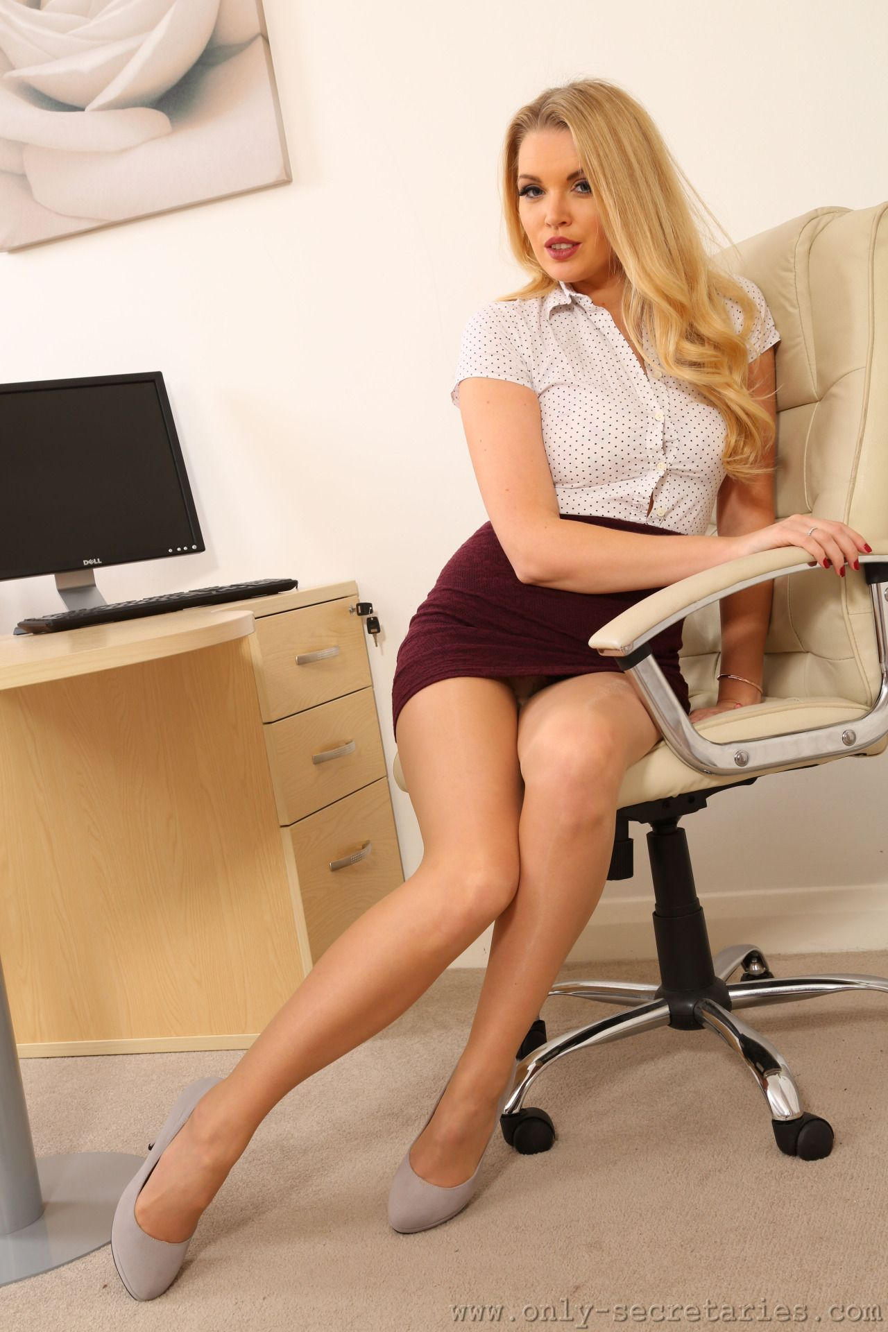 very sexy teacher naked on desk