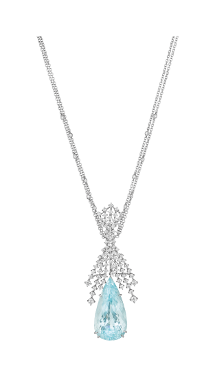 MARGHERITA BURGENER, An Aquamarine and Diamond Pendant Necklace #phillips
