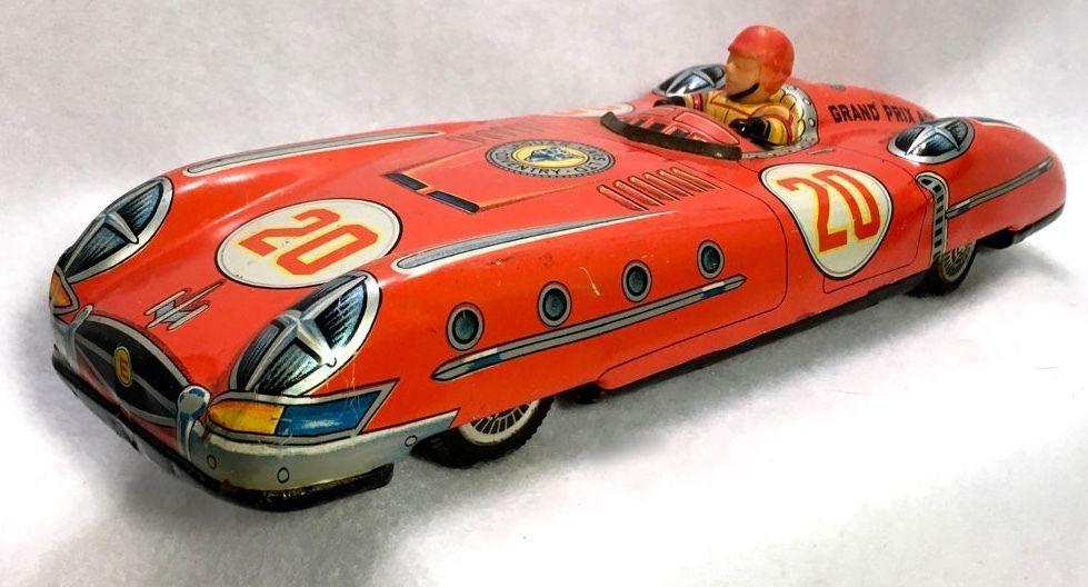 Vintage 60s Jaguar Coventry LTD Tin Litho Race Car Grand Prix Ace ...