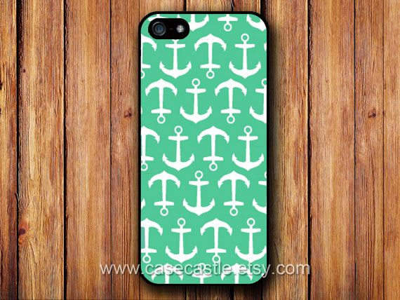 Anchor on Green - iPhone 5 Case