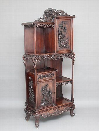 Antique 19th Century Chinese Cabinet, Antique Chinese Furniture Uk