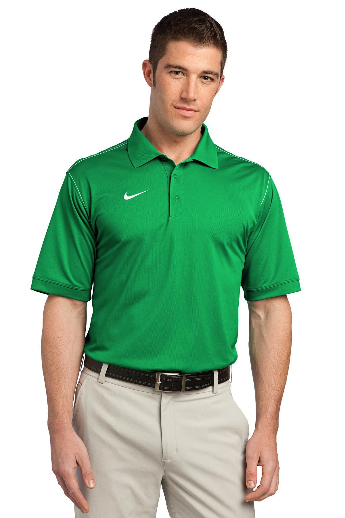 Nike Golf Dri Fit Sport Swoosh Pique Polo 443119 Lucky Green
