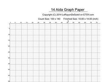 Aida  Cross Stitch Graph Paper Grid Template  Etsy Unique