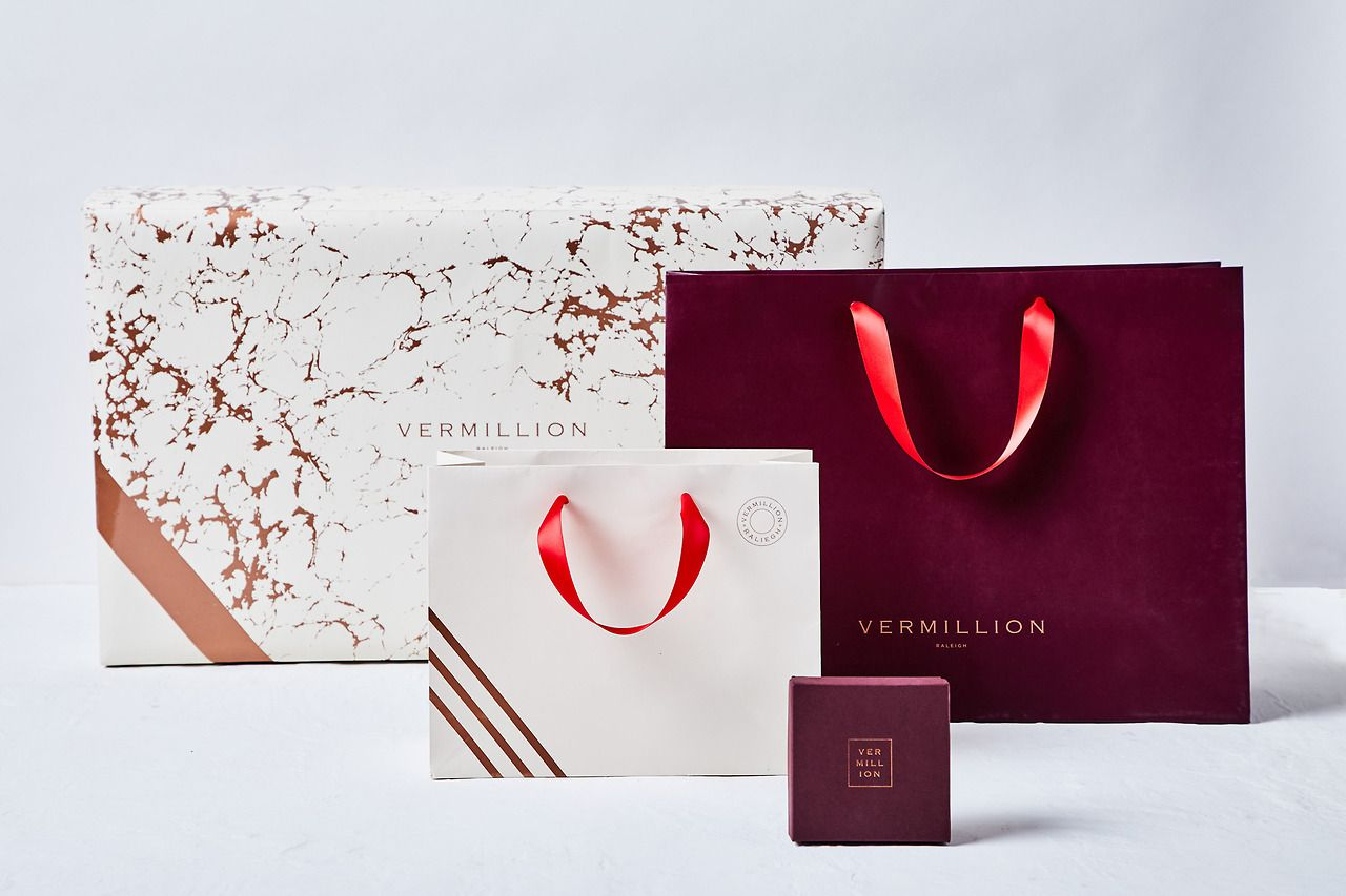 Branding packaging for vermillion by stitch design co