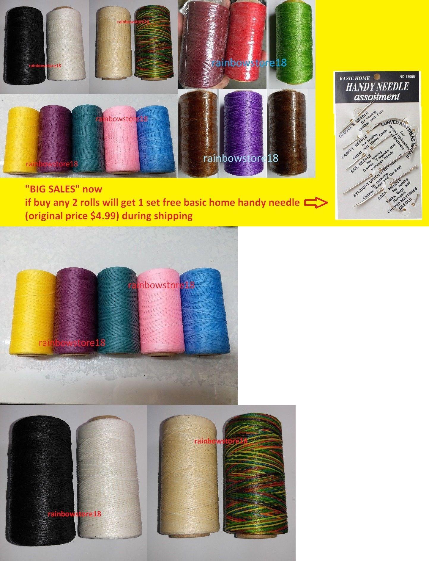 Leather Threads 183138: Big Sales 1 Roll Waxed Thread Leathercraft