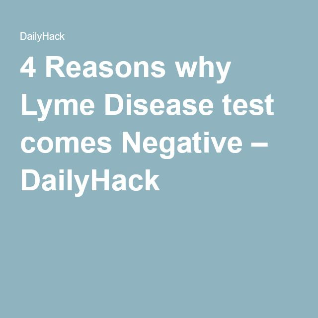4 Reasons why Lyme Disease test comes Negative – DailyHack