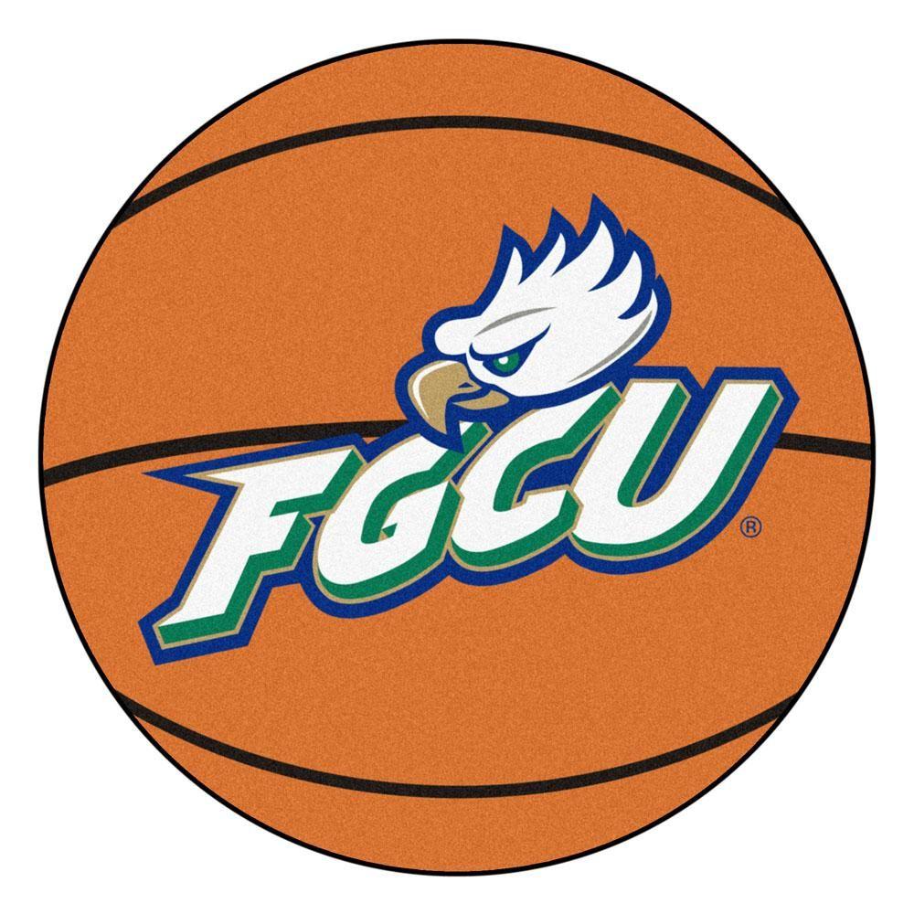 Florida Gulf Coast Eagles Basketball Area Rug Round area