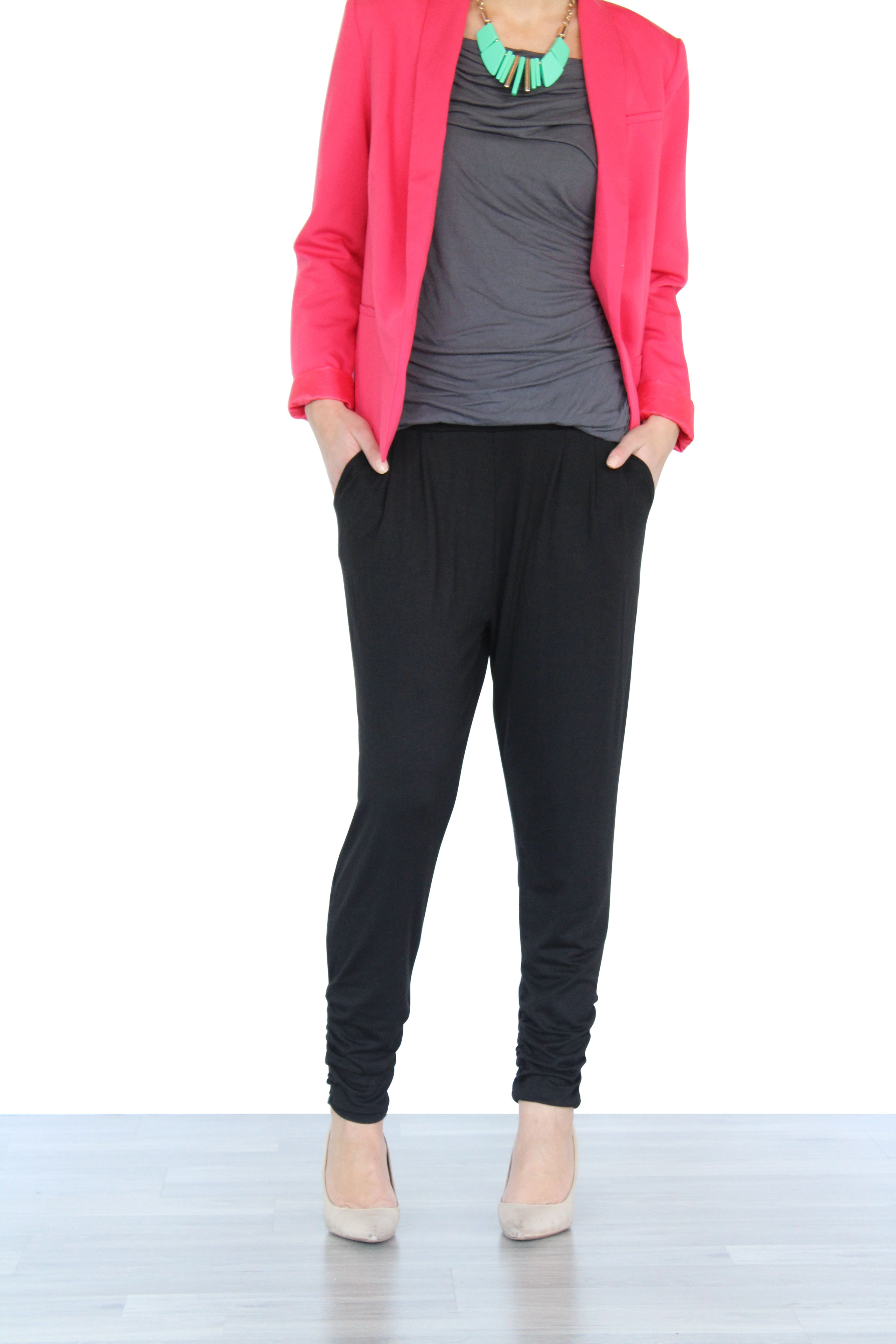 how to wear dressy joggers dressy sweatpants to work. dress up ...