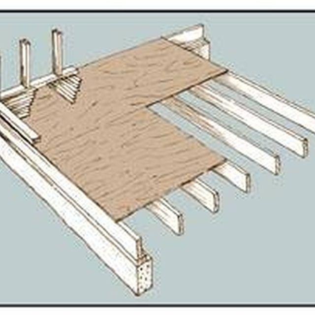How To Build A Raised Wood Floor Hunker Sunken Living Room Garage Room Conversion Garage Bedroom