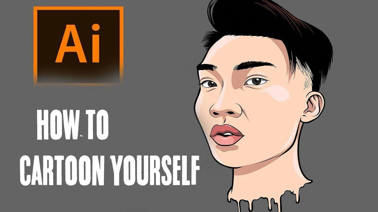 How To Cartoon Yourself ! Step By Step /RiceGum Tutorial