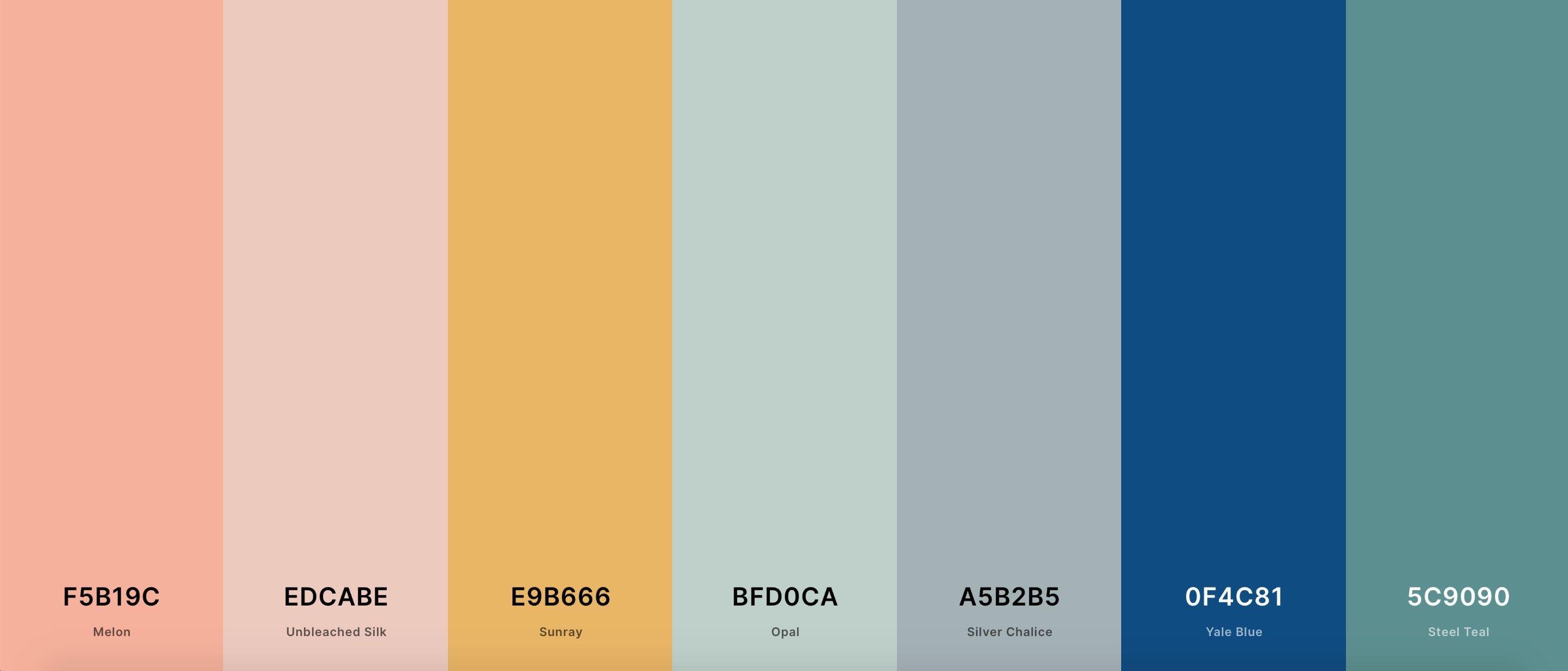 2020-2021 color palette
