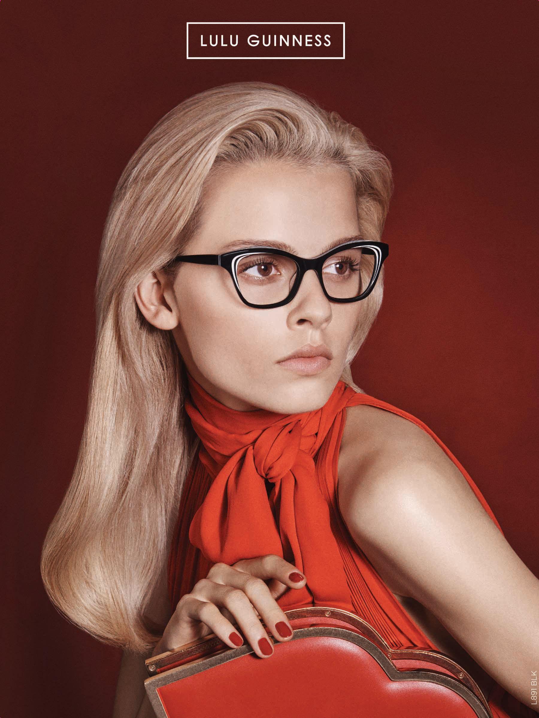 Lulu Guinness Women\'s Eyewear / optical glasses L891 black & white ...