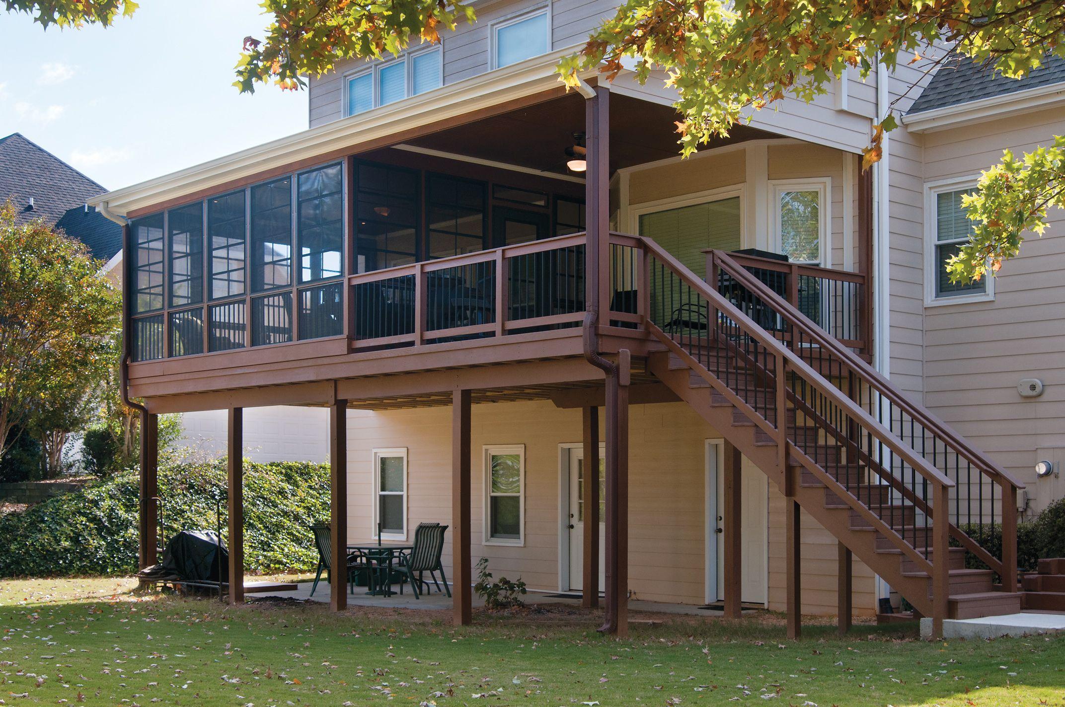 Exterior Photo Of Three Season Porch With Eze Breeze