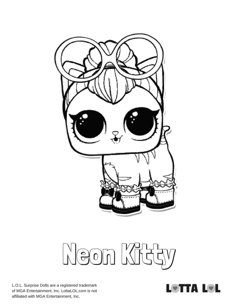 Neon Kitty Coloring Page Lotta Lol Kitty Coloring Puppy Coloring Pages Coloring Pages