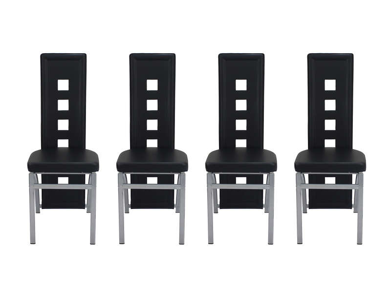 lot de 4 chaises bright coloris noir