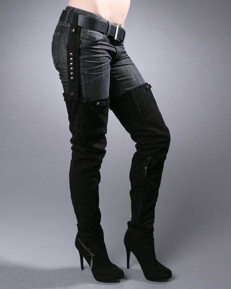 Thigh High Boots and Jeans | Beyonce Does Thigh-Highs | DrJays.com ...