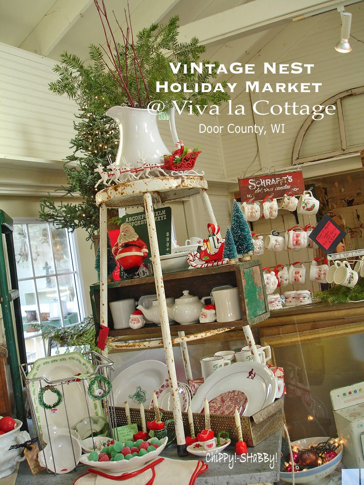 shabby vintage market display | ChiPPy! - SHaBBy!: **DOOR COUNTY** Wisconsin ~ Just for the DaY!*!*!