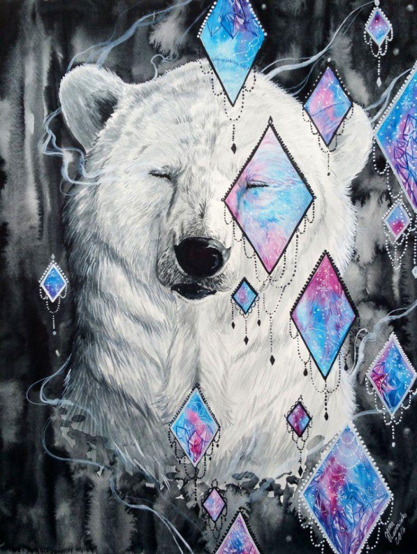 красивые рисунки медведей бракосочетание одной