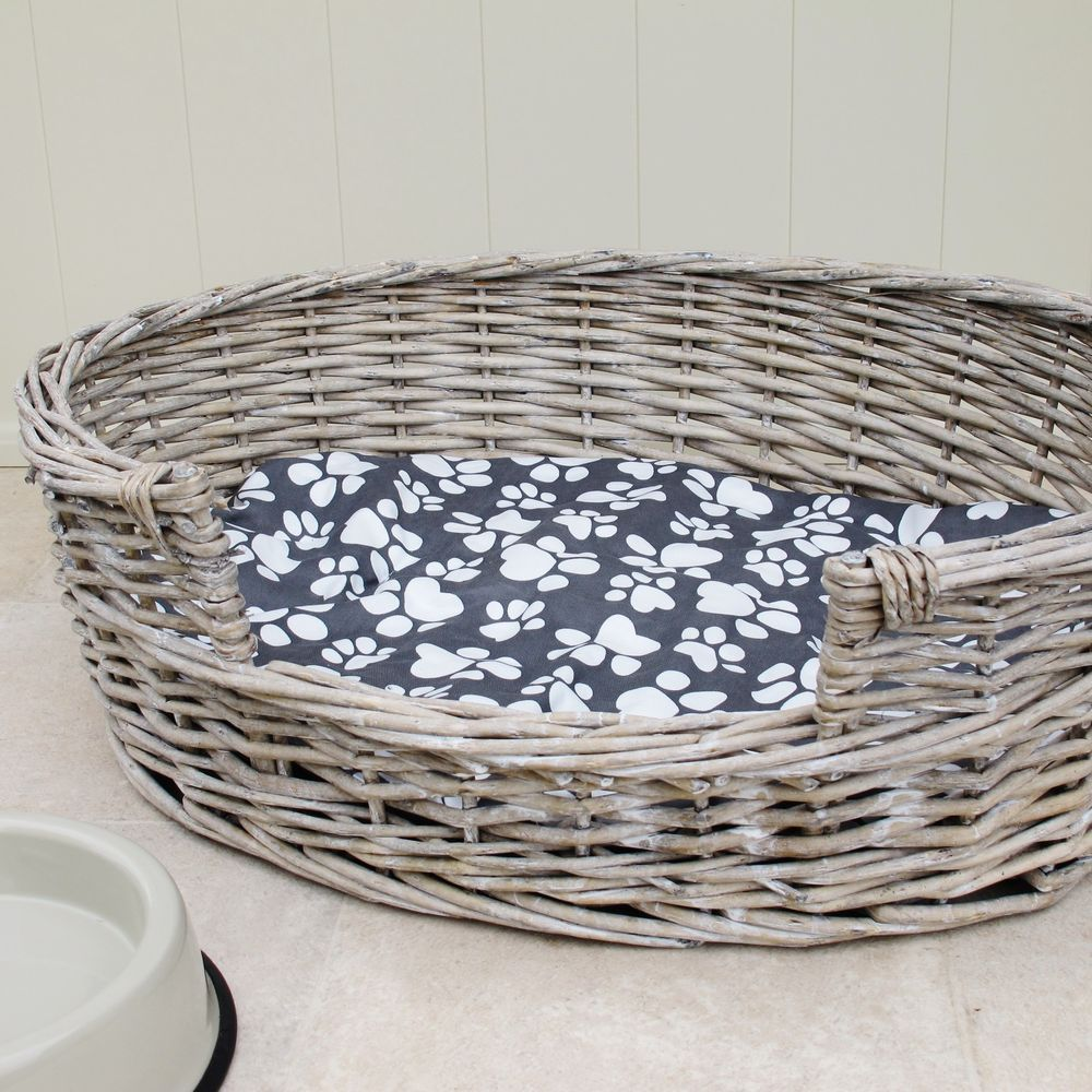 Wicker Dog Bed Basket Oval Available In Small Medium Large Xlarge Tbs23674 Basket Dog Bed Dog Bed Large Wicker Dog Bed