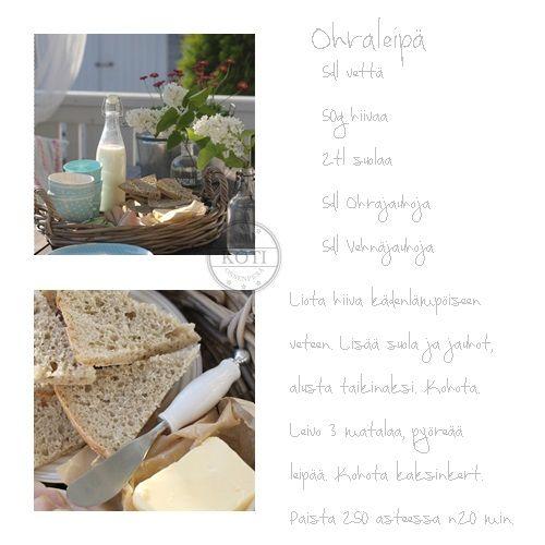 ohraleipä, leipominen, rottinkitarjotin